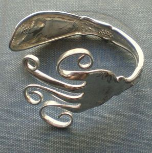 Recycle old silverware and make cool jewelry!
