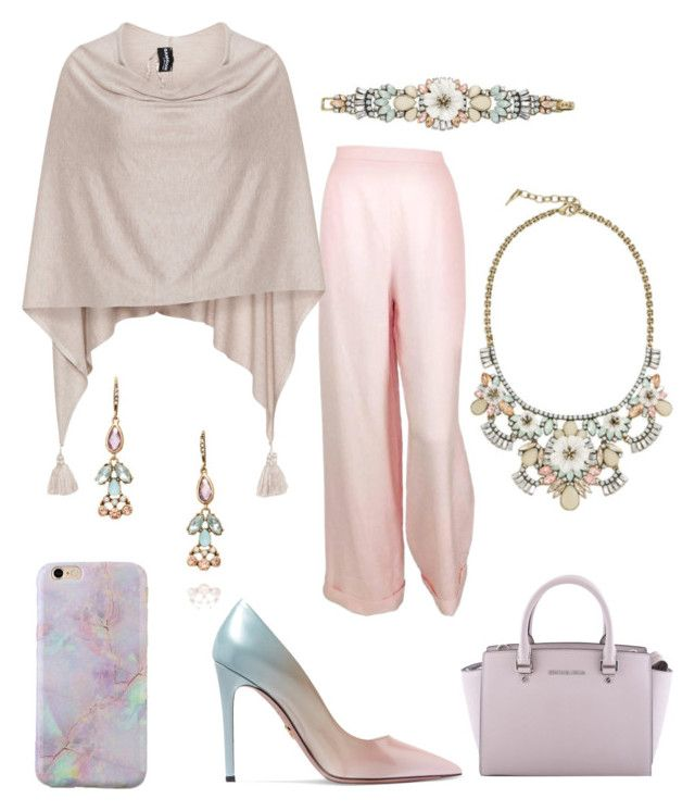 """""""spring day date outfit"""" by rajanie-gonzalez-tinoco on Polyvore featuring Chloe + Isabel, Chanel, Samoon, Prada and MICHAEL Michael Kors"""