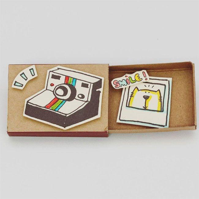 Vietnamese Artist Creates Tiny Matchbox Greeting Cards With A Hidden Messages Inside