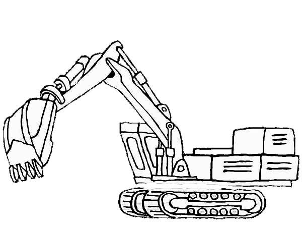 excavator coloring pages to print - photo#12