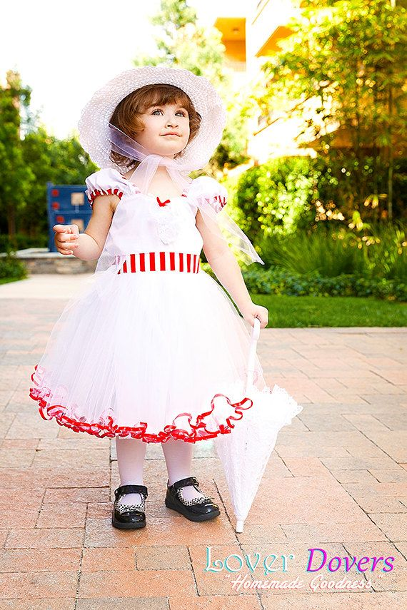 MARY POPPINS dress girls costume dress fun by loverdoversclothing, $62.00