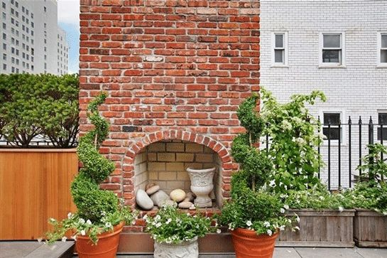 Not one, but two fireplaces. #TheDream. #refinery29 http://www.refinery29.com/east-village-rooftop-cottage-for-sale#slide-7