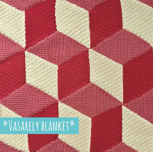 """Free pattern for """"Vasarely Blanket"""" by Mrs Purple!"""