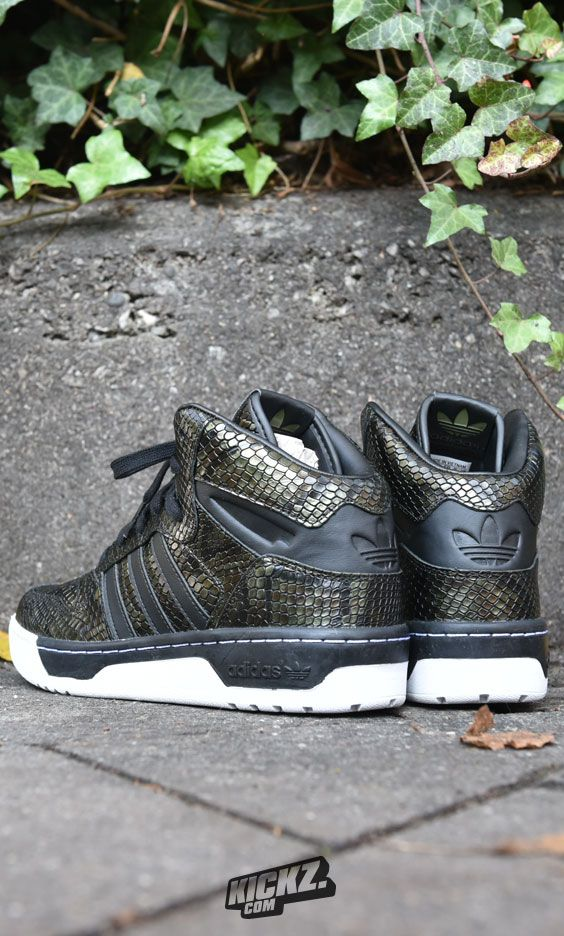 Street-Jungle Queens, look at these beauties! The adidas Metro Attitude Revive comes decked out in shiny snakeskin.