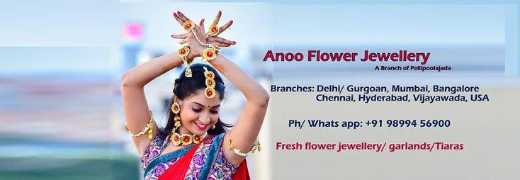Buy Artificial Flower Jewellery | Anoo Flower Jewellery