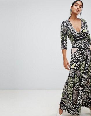133e6f9c6ef8 Liquorish leopard animal print wrap maxi dress | African print fashion |  Maxi wrap dress, Print wrap, African print fashion