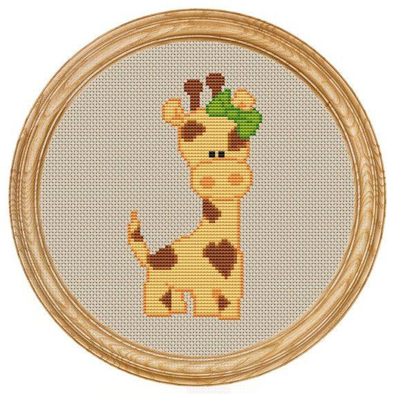 Cross Stitch Pattern PDF giraffe DD0006 от HappyStitches4You, $5.00