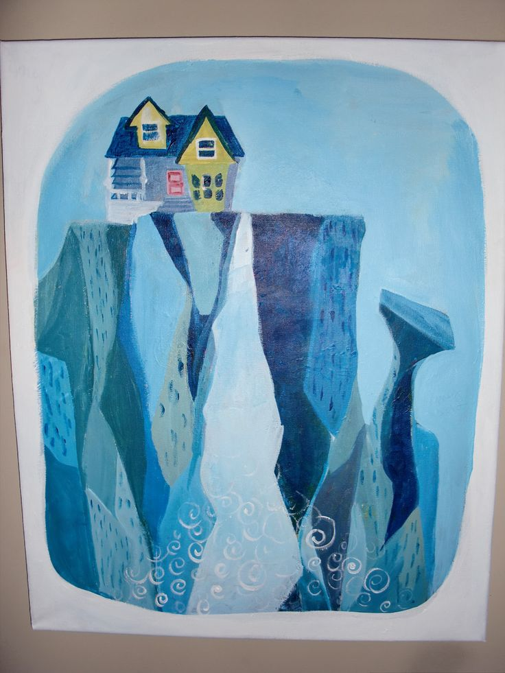 Pixar UP Paradise Falls House Ellie Painting. $45.00, via ...