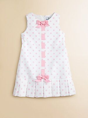 Florence Eiseman Toddler's & Little Girl's Pique Pleated Polka Dot Dress