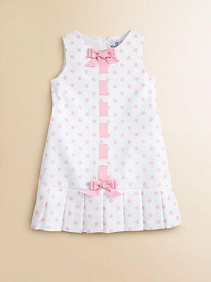 Florence Eiseman Toddler's & Little Girl's Pique Pleated Polka Dot Dress