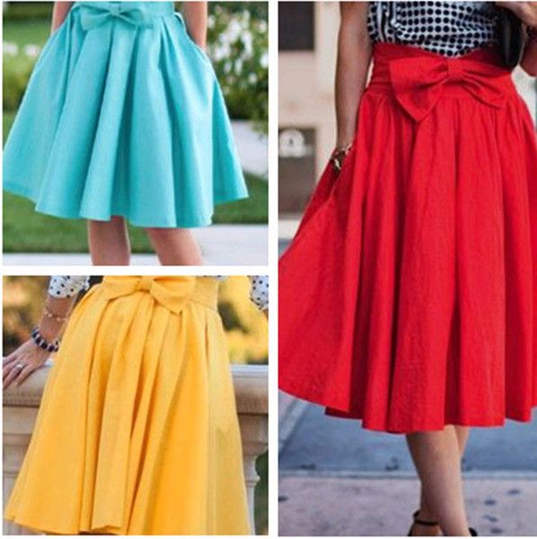 - Cute bow ribbon casual slim skirt for the stylish fashionista - Beautiful design offers a cute stylish look - Great for the workplace or casual outings - Made from high quality material - Available