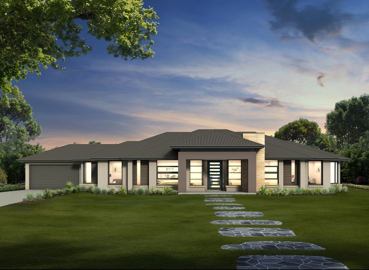 Maitland 30 // Single storey home design that replicates a contemporary version of the 'ranch' style home and has a superb open-plan layout designed to maximise rear outlook