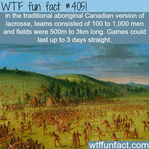 The traditional Canadian version of lacrosse - WTF fun facts
