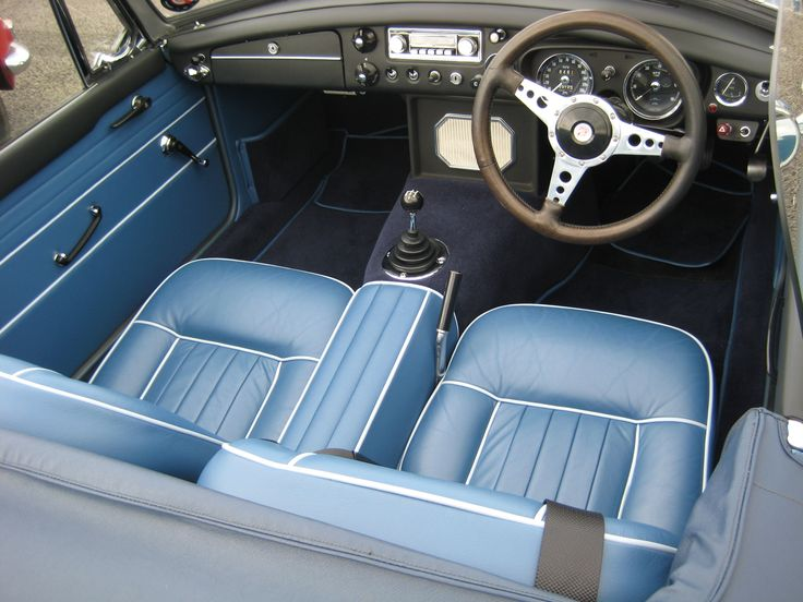 mgb interior in blue mgb pinterest interiors cars and car interiors. Black Bedroom Furniture Sets. Home Design Ideas