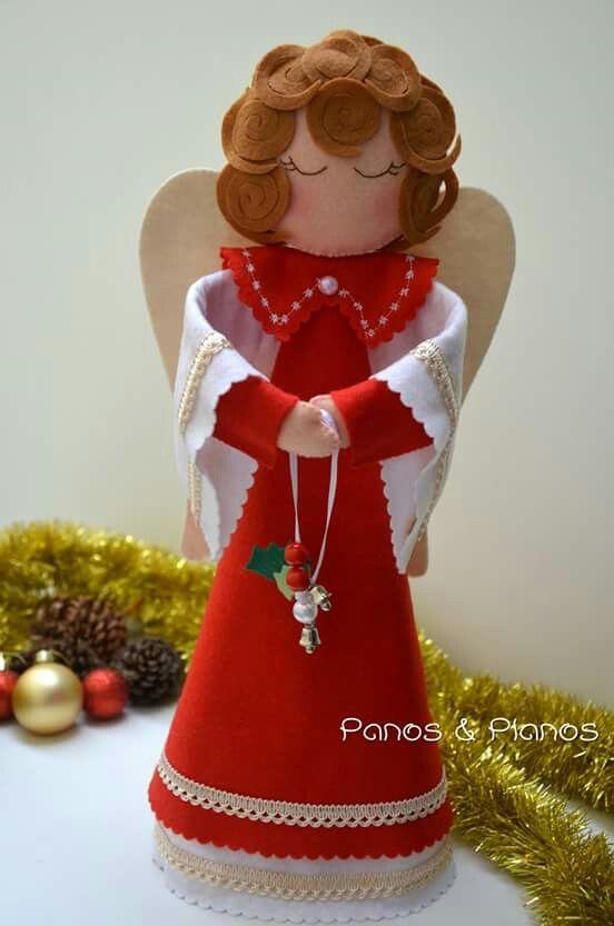 Artesanato Tecido Franzido ~ 20 melhores imagens sobre anjos de feltro no Pinterestárvores de Natal, Feltro e Cartolina