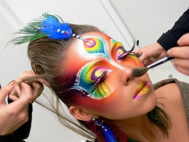 colorful fantasy makeup
