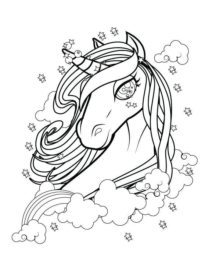 Coloriage Cheval Licorne Imprimer.Belle Licorne Coloriage Magnifique Gratuit A Imprimer