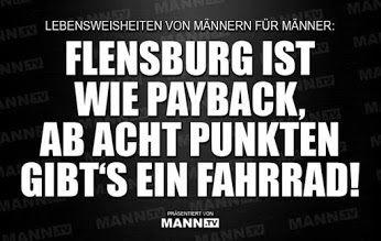 Flensburg ist wie Payback, ab acht Punkten gibt's ein Fahrrad!