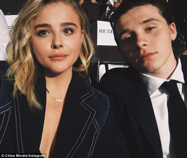 Before she got up on stage, Moretz was joined by boyfriend Brooklyn Beckham.She shared an Instagram snap of the pair in their reserved seats at the Wells Fargo Center