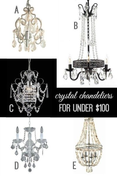 Crystal Chandeliers For Under 100 Via Remodelaholic