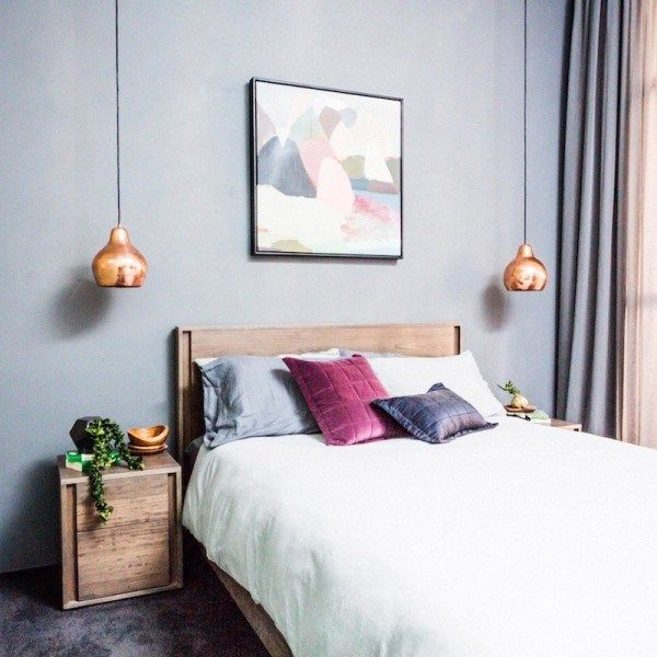 Michael & Carlene's guest bedroom - The Block Glasshouse | Guest bedroom reveals | Blossom and Bright | diy and design