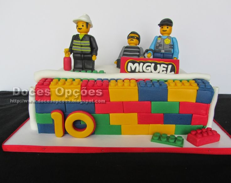 Doces Opções: Bolo de aniversário Lego City