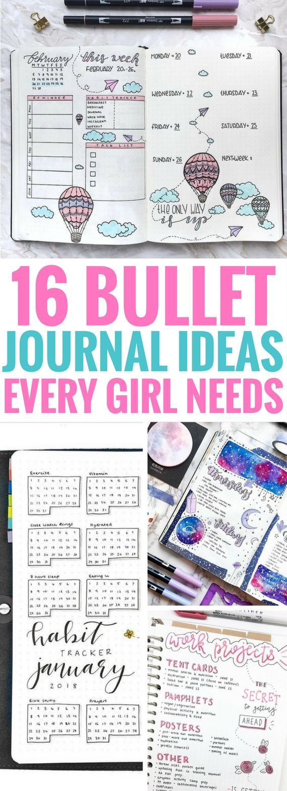 16 Best Bullet Journal Ideas Every Girl Needs Sarah Skrzetuszewsky DIY und Kunsthandwerk