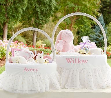 The 25 best baby easter basket ideas on pinterest easter gold dot tulle easter basket liners pbkids negle Gallery