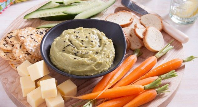 Grab the carrots and crackers and dive into this delicious Genki Green Dip. Thanks for the recipe One Bite More!  #fingerfood #snack #recipe