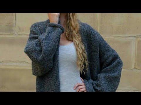 КАРДИГАН СПИЦАМИ ✂БЕЗ ШВОВ НЕ РЕГЛАН вязание Knit Mom cardigan мастер-класс - YouTube