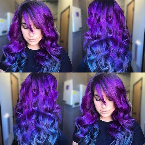 Love the vivid-ness of this color, and the progression from purple to blue.