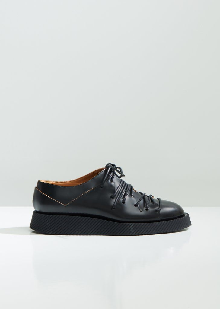 Leather Deconstructed Lace Up Oxfords - EU 36   Nero in 2019   Shoes We  Love   Lace up, Shoes, Leather e5c43bfb95c