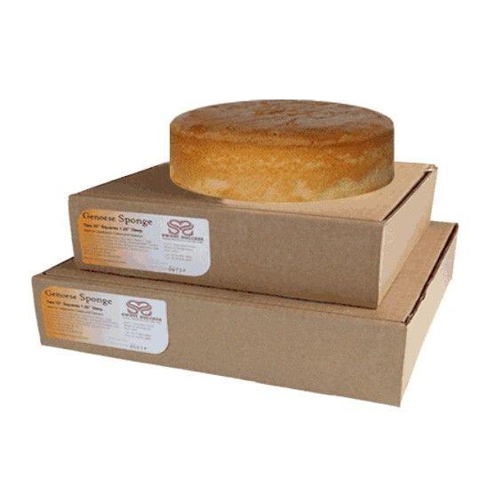 """Vanilla Genoese Sponge Cake – Round – 10"""""""