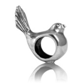 Fantail sterling silver charm, Evolve New Zealand jewellery