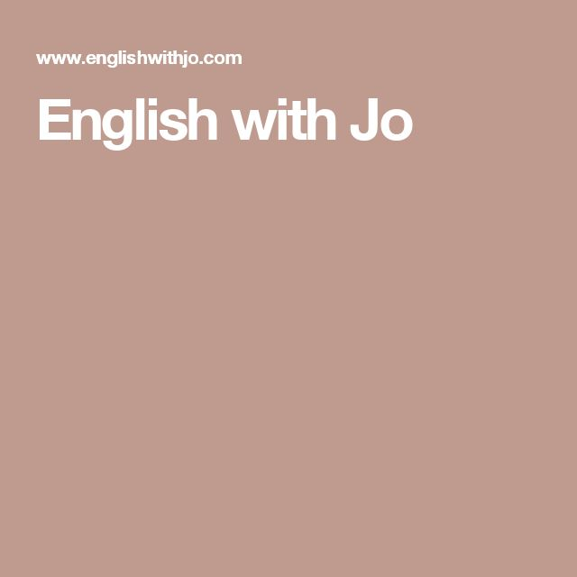 English with Jo