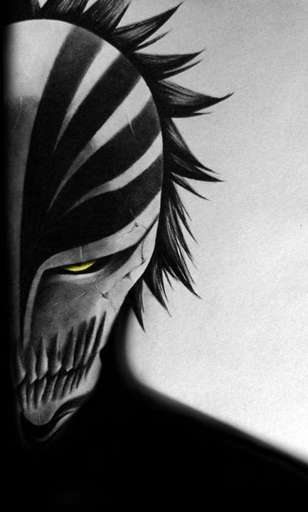 I would hang this in my house, too. But i would probably scare myself at night... #Ichigo #bleach #hollow
