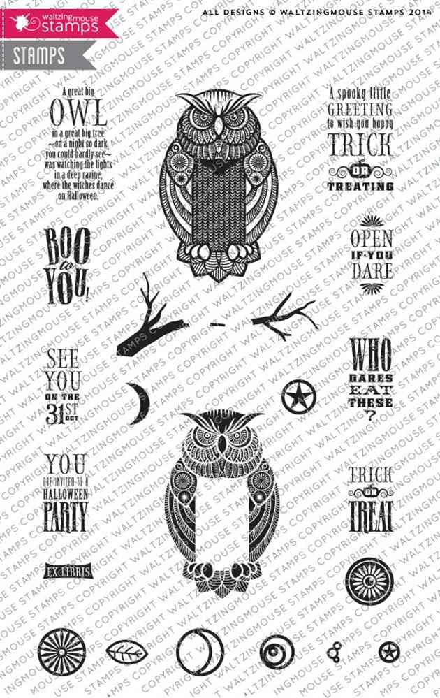 Great Big Owl on www.addictedtorubberstamps.com