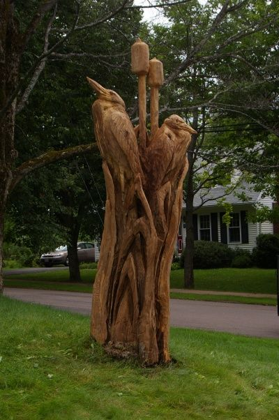 Best tree stump carving images on pinterest owls