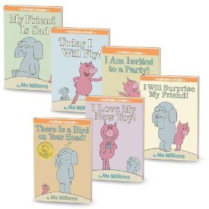 Elephant and Piggie. The kids LOL reading this series!