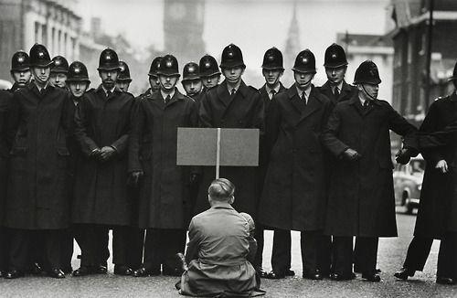 Anti war demonstrator in 1960's London    By Don McCullin