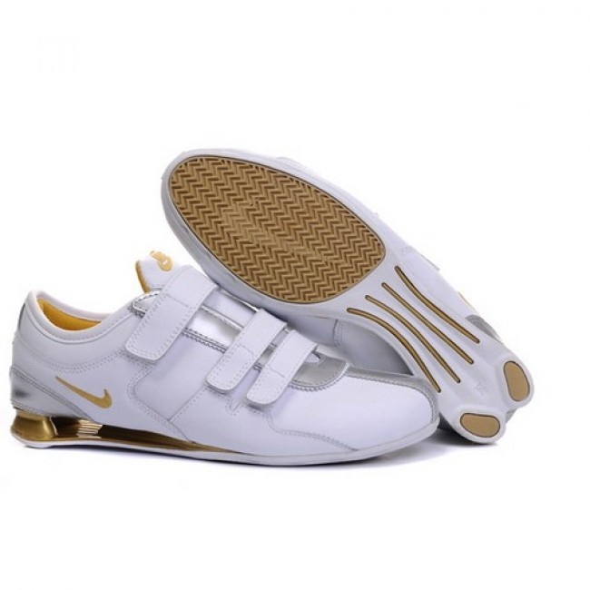 Wonderful Nike Shox R3 White/Metallic Gold Men Shoes 1055 For $45.00 Go To: