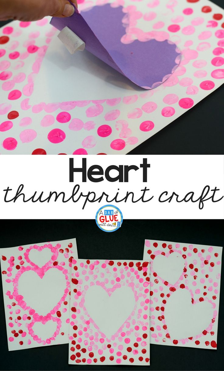fb5e2fb39a28d86c3925ec38d35bc452 - Create this Heart Thumbprint Art in your kindergarten classroom as your next Val...