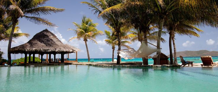 Luxury Holiday Ideas Necker Island Resort Hammock over pool