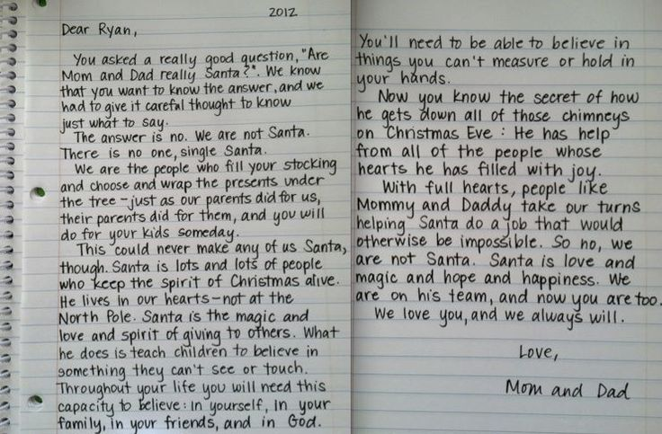 Explaining Santa.  LOVE this!  It's a great explanation for adults as well!