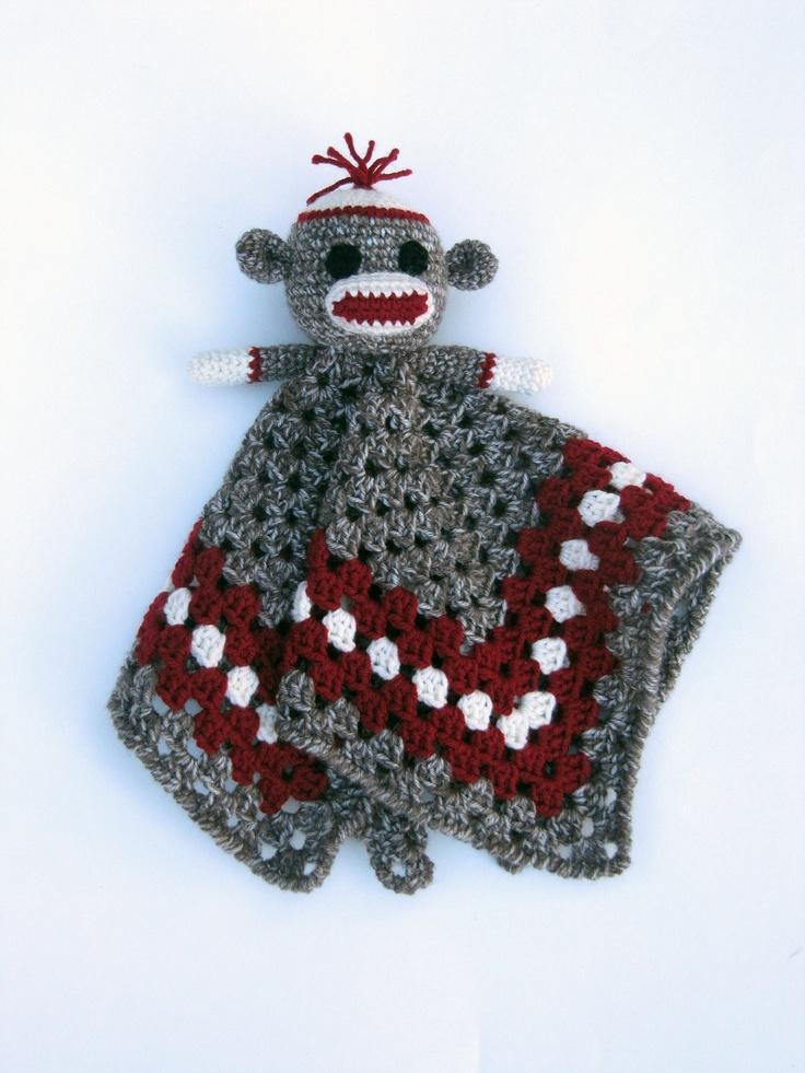 Sock Monkey Lovey - CROCHET PATTERN instant download ...