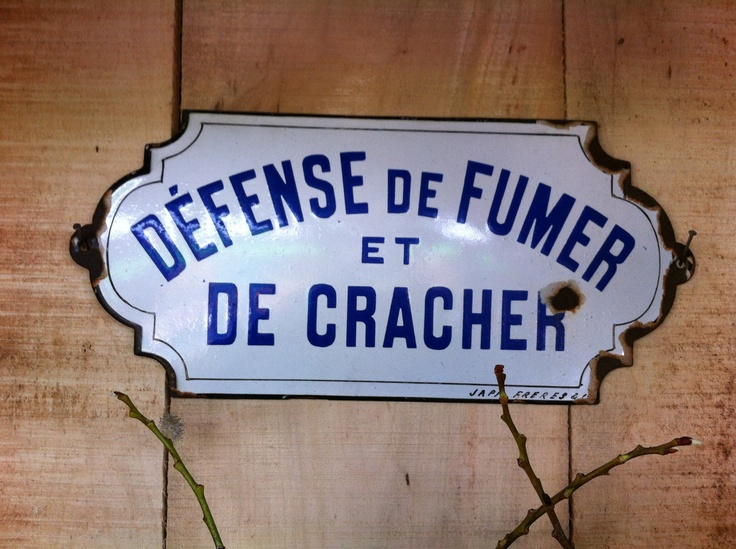 Dfense De Fumer Et De Cracher Plaque Maille Et Bombe
