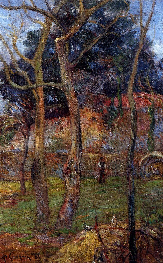 Paul Gauguin Bare Trees, 1885 (oil on canvas)