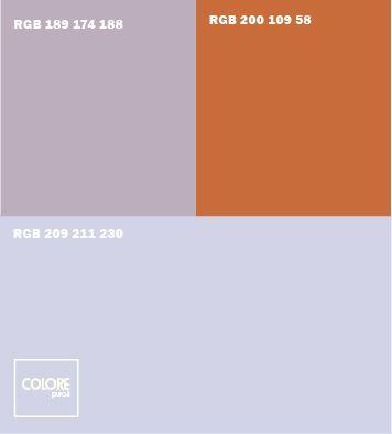 Abbinamento colori azzurro chiaro  viola chiaro  arancione
