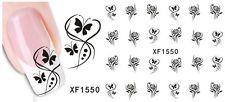 Nail Art Nageldesign Water Transfer Nagel Sticker Aufkleber Blumen XF1550