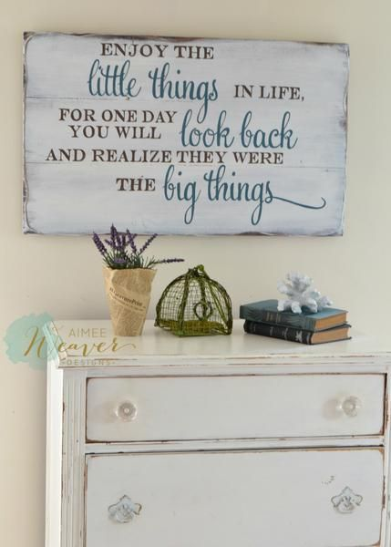 Enjoy the Little Things In Life Wood Sign